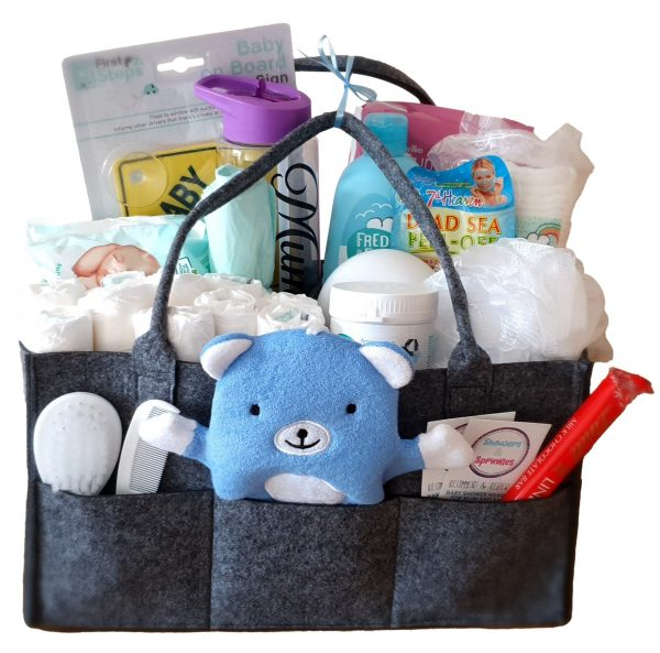 Deluxe Combo mum and baby gift hamper in blue