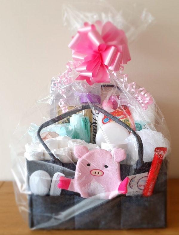 Deluxe combo mum and baby gift hamper in pink